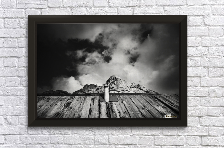 One with mountain Stretched Frame Print