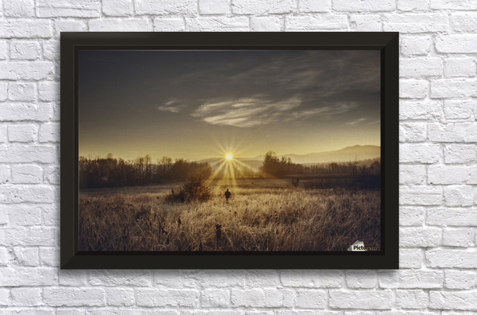 Zen morning Stretched Frame Print