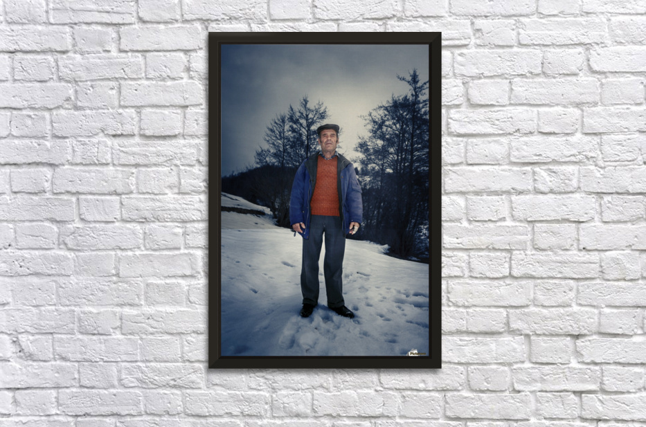 Sunday in winter Stretched Frame Print