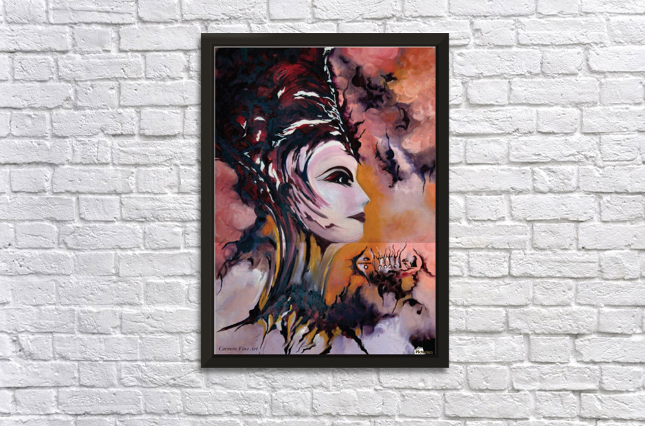 Act with Modern Elegance - Nefertiti Stretched Frame Print
