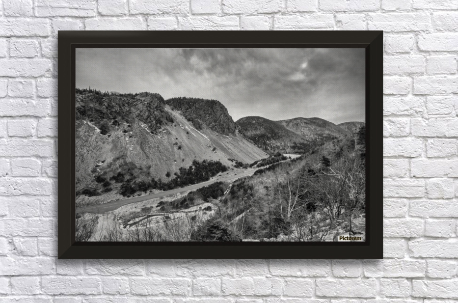 Cliffs of la Grande Falaise Stretched Frame Print