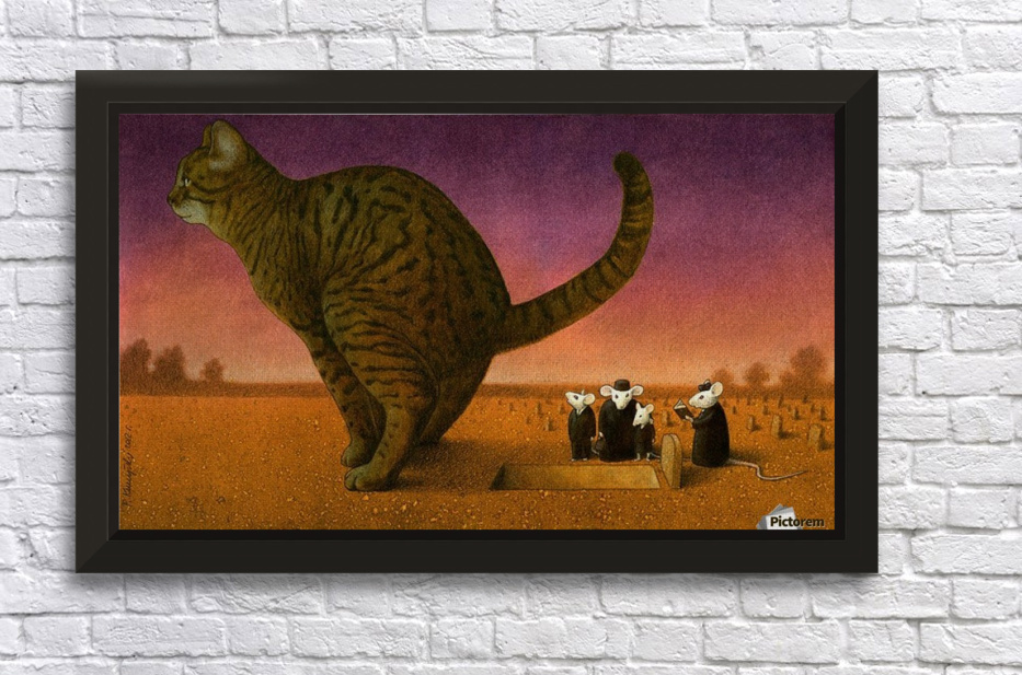 Cat Stretched Frame Print