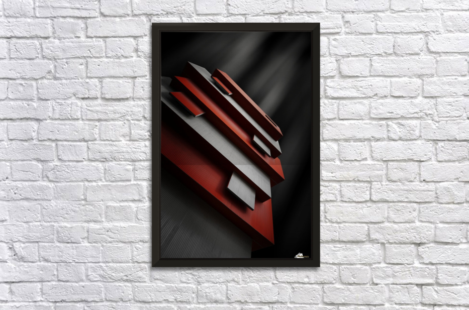 red&white Stretched Frame Print