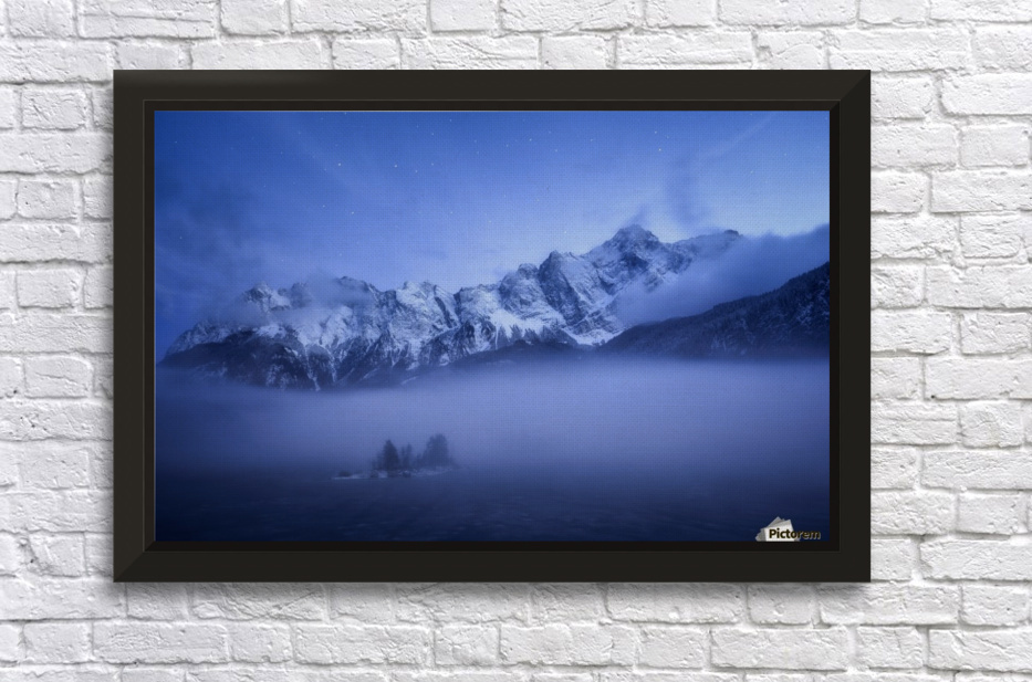 Misty Winter Evening Stretched Frame Print