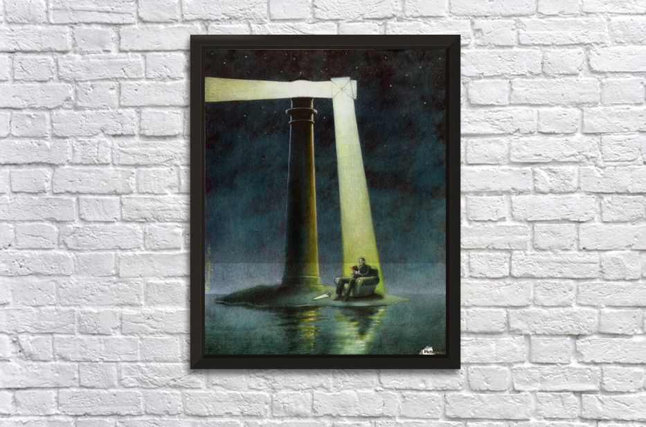 Lighthouse Stretched Frame Print