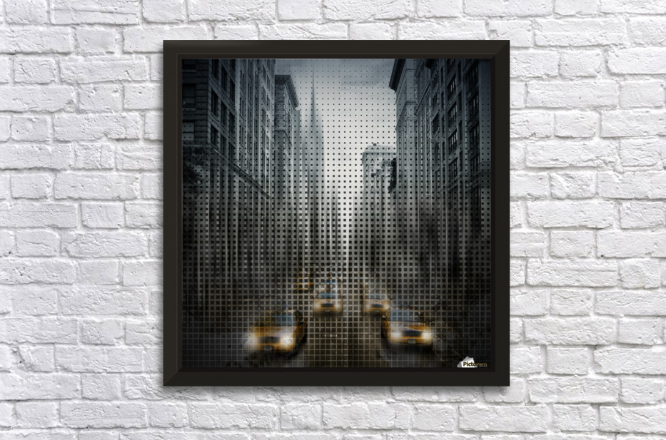 Graphic Art NYC 5th Avenue Traffic V Stretched Frame Print