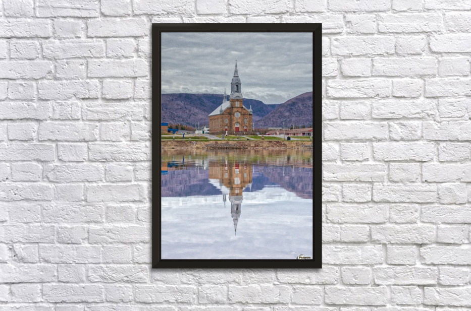 St. Pierres Church - Cheticamp Ns Stretched Frame Print