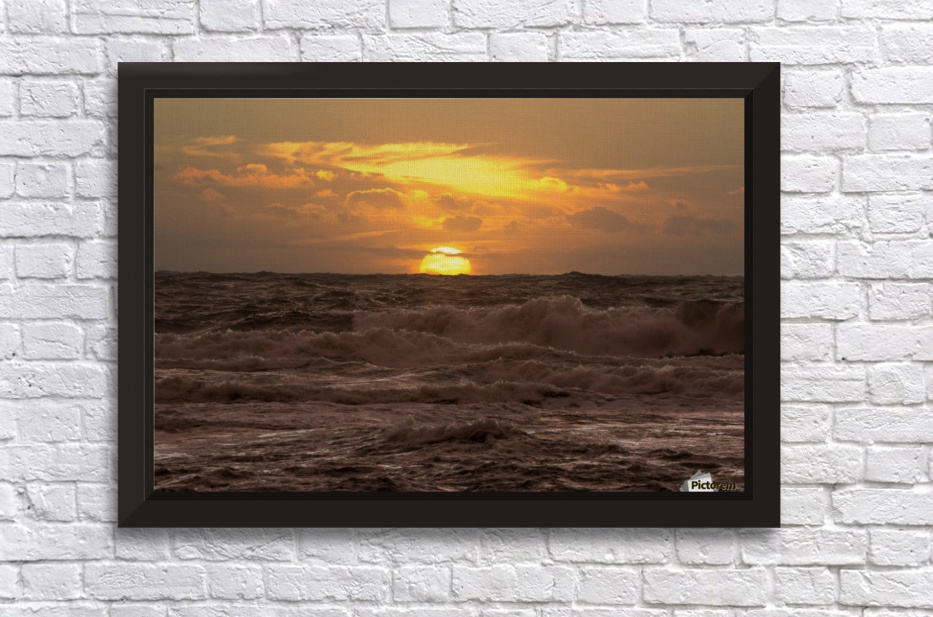 Fire & Water Stretched Frame Print