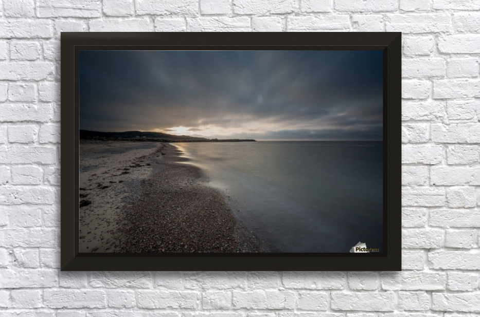 Belle Cote Beach at Sunset Stretched Frame Print