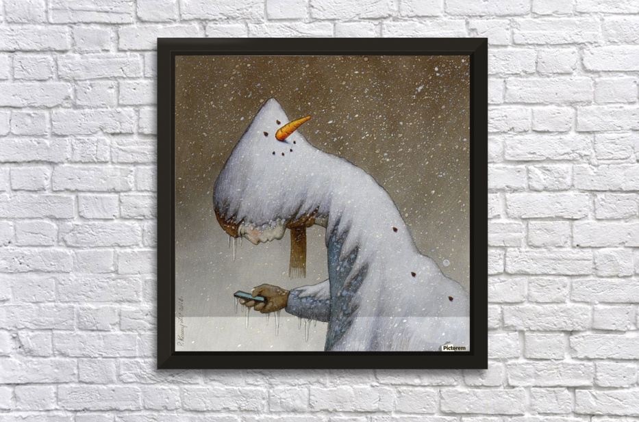 snowman Stretched Frame Print