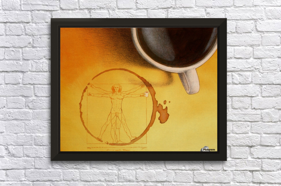 coffee man Stretched Frame Print