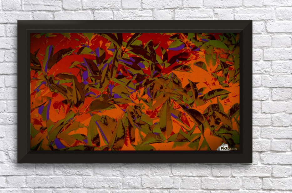 bushesabstract Stretched Frame Print