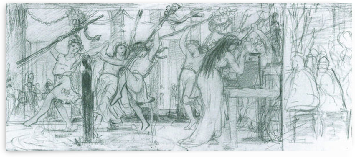 The Grape Harvest Festival, sketch by Alma-Tadema by Alma-Tadema