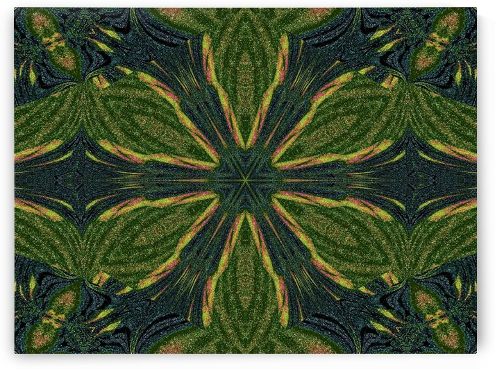 Green Flower 3 by Sherrie Larch