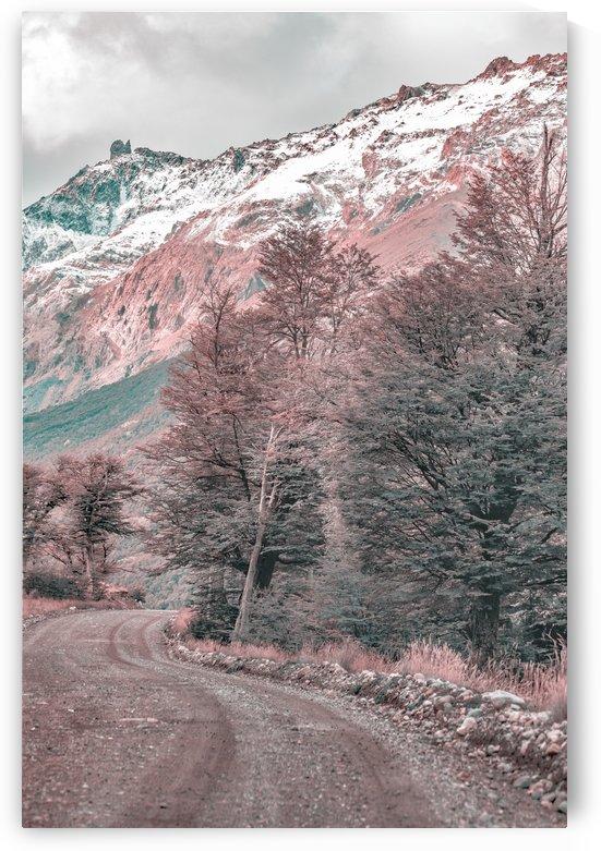 Gravel Empty Road   Parque Nacional Los Glaciares   Patagonia   Argentina by Daniel Ferreia Leites Ciccarino