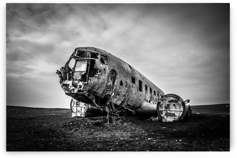 Plane wreck B&W by Danielle Farrell