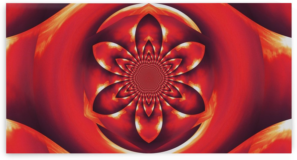 Red Fire Flower 1 by Sherrie Larch