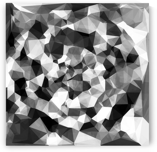 contemporary geometric polygon abstract pattern in black and white by TimmyLA
