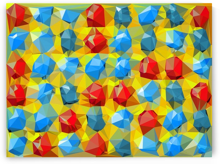 geometric polygon abstract pattern yellow blue red by TimmyLA