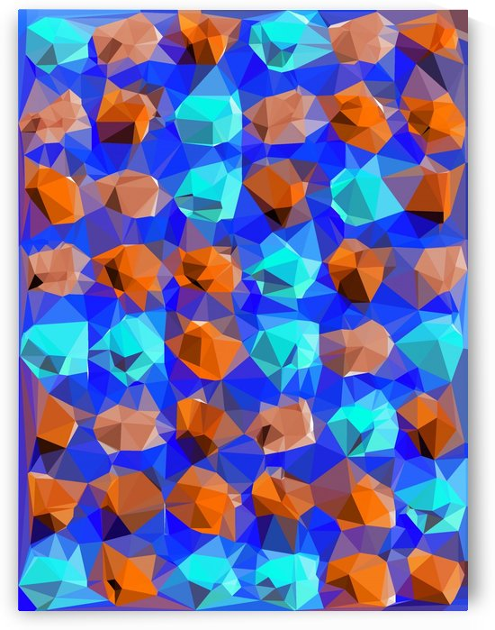 geometric polygon abstract pattern in blue and brown by TimmyLA