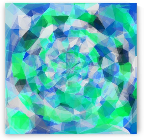 geometric polygon abstract pattern in blue and green by TimmyLA