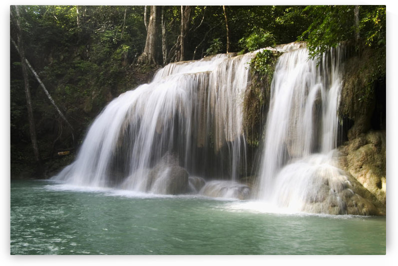 Thailand, Kanchanaburi Province, Erawan National Park, One Of The Falls From The 7-Tiered Erawan Waterfall by PacificStock