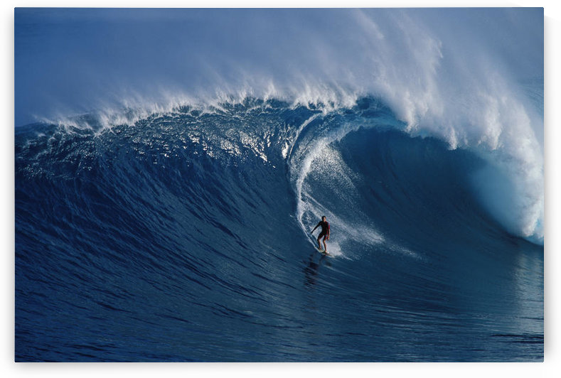 Hawaii, Maui, Buzzy Kerbox Surf Curling Wave At Jaws Aka Peahi, Curling Wave by PacificStock