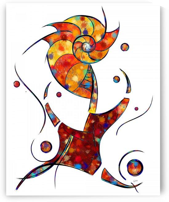 Espanessua - imaginery spiral flower by Cersatti Art