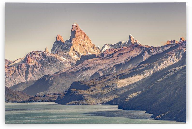 Fitz Roy and Poincenot Mountains Lake View   Patagonia by Daniel Ferreia Leites Ciccarino