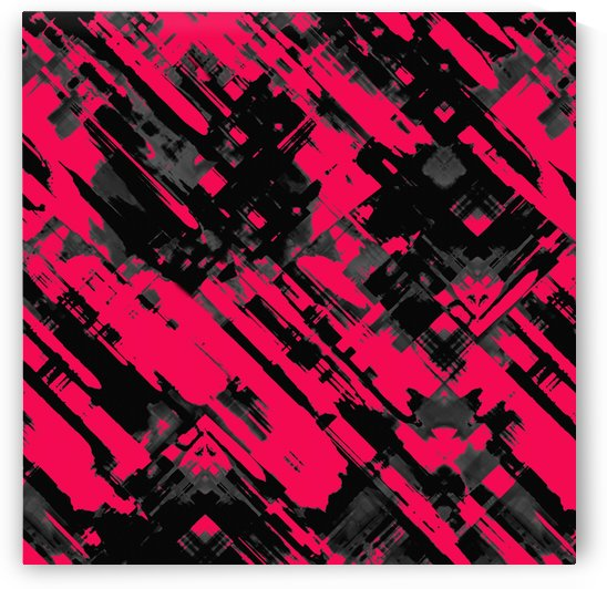Hot pink and black digital art G75 by Medusa GraphicArt