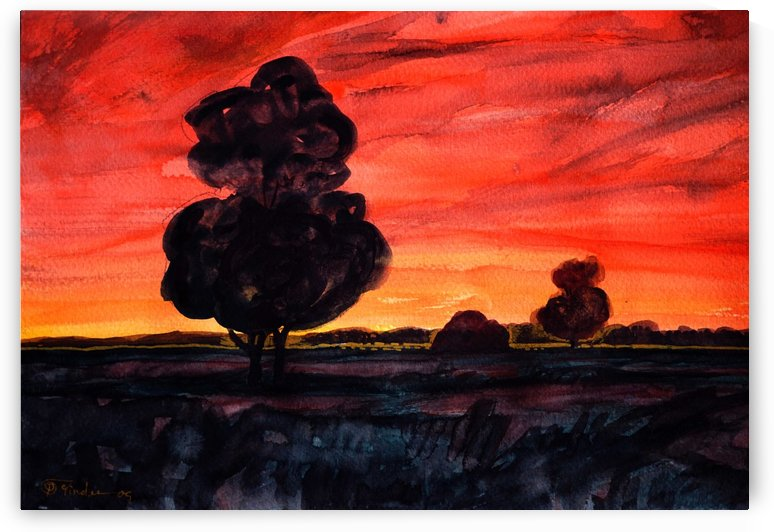 twilight fields by Pracha Yindee