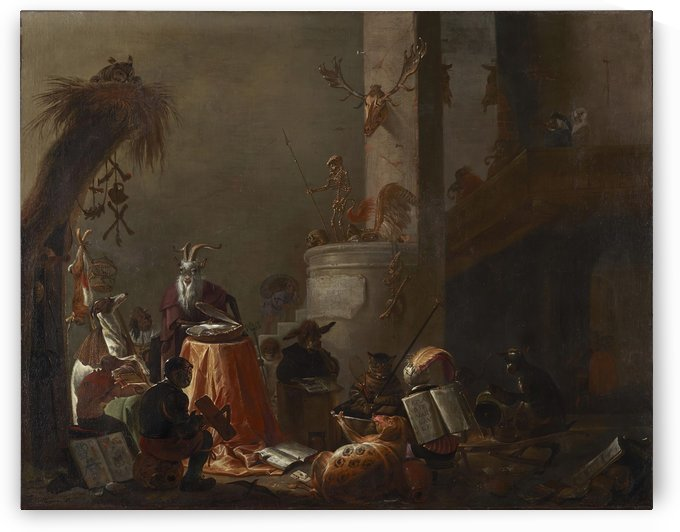 College of Animals, 1655 by Cornelis Saftleven