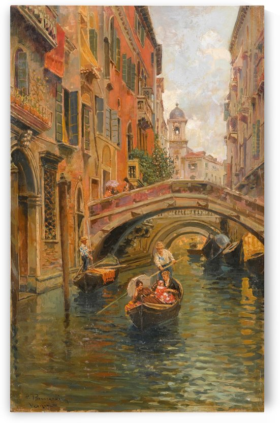 A walk with the gondola along a small canal in Venice by Carlo Brancaccio