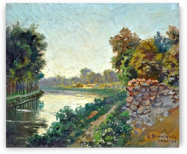 Canale a Saint Martin a Chalons by Carlo Brancaccio