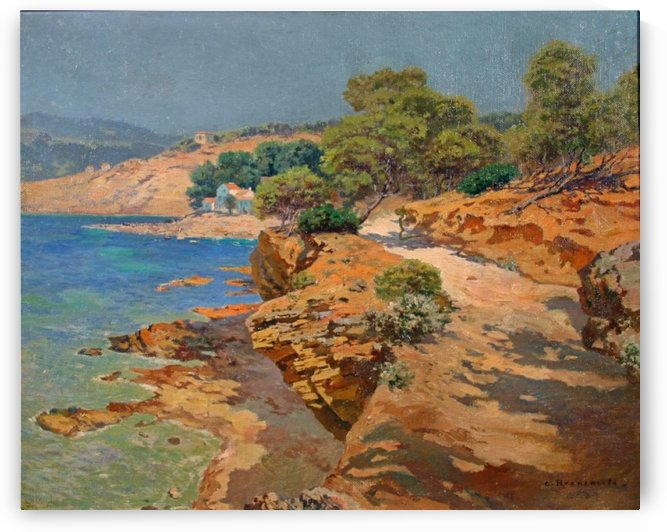 Landscape along the Italian coast by Carlo Brancaccio
