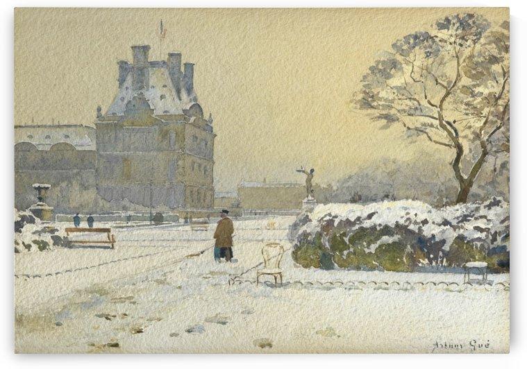 Le pavillon de flore sous la neige, Paris by Arthur Gue