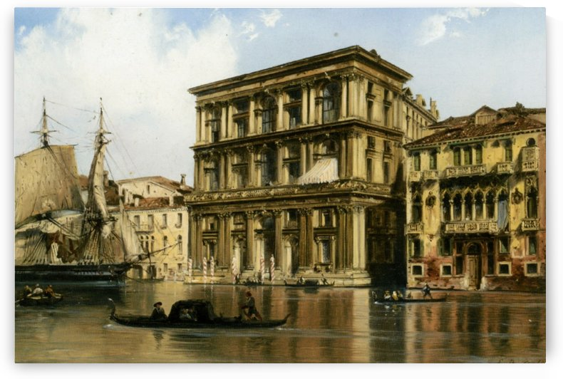 On the Grand Canal, Venice by Carlo Bossoli