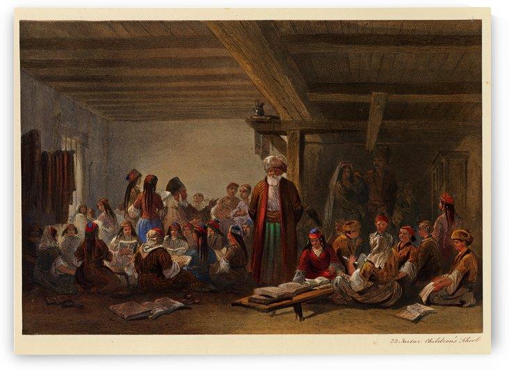 Tatar school for children by Carlo Bossoli