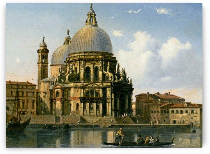 A view of Santa Maria della Salute in Venice by Carlo Bossoli