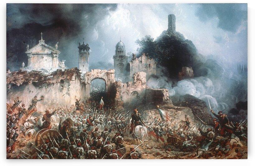 Battle of Solferino by Carlo Bossoli