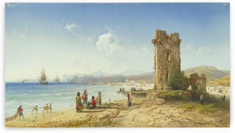 The Ruins of Chersonesus, Crimea by Carlo Bossoli