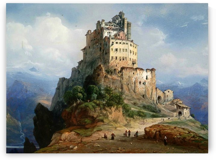 The monastery by Carlo Bossoli