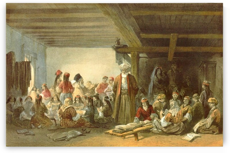 Tartar children school by Carlo Bossoli