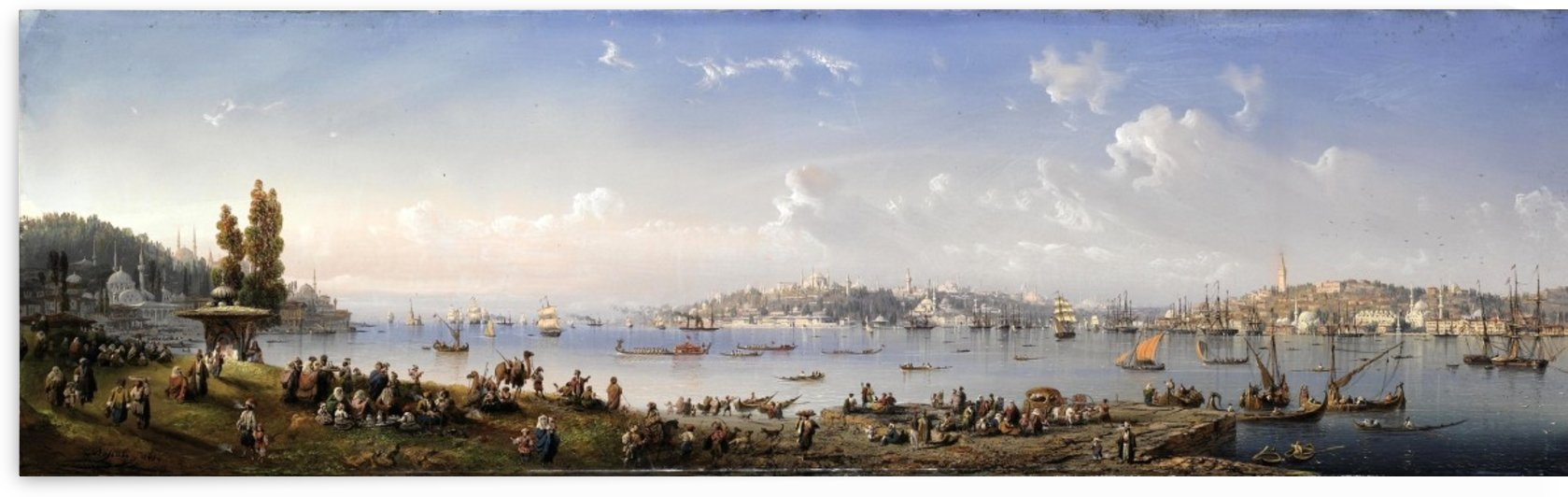 A Panorama of Constantinople From Uskudar by Carlo Bossoli
