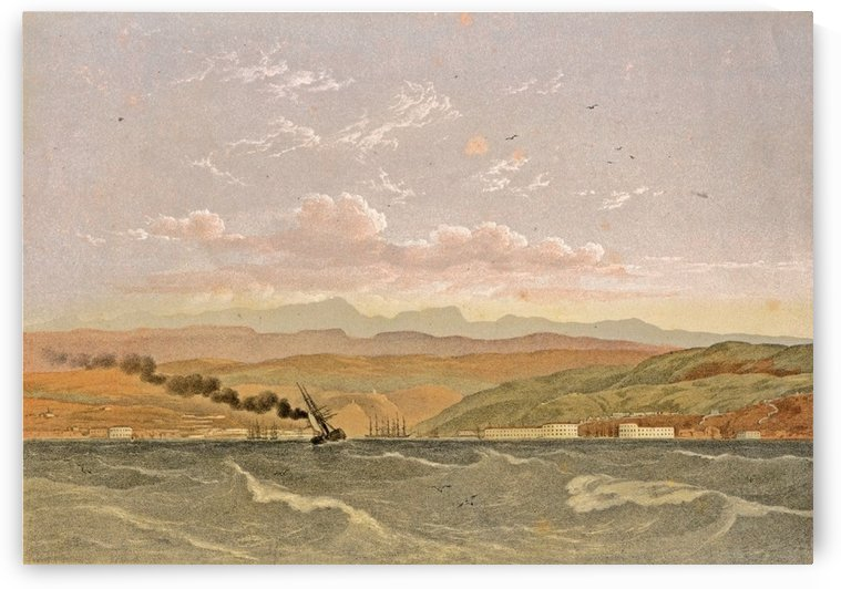 Entrance to Sebastopol, from the sea by Carlo Bossoli