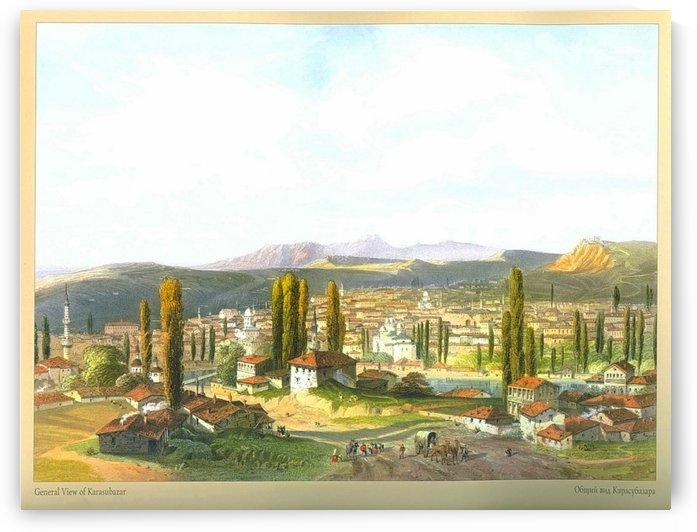 General view of Karasubazar by Carlo Bossoli