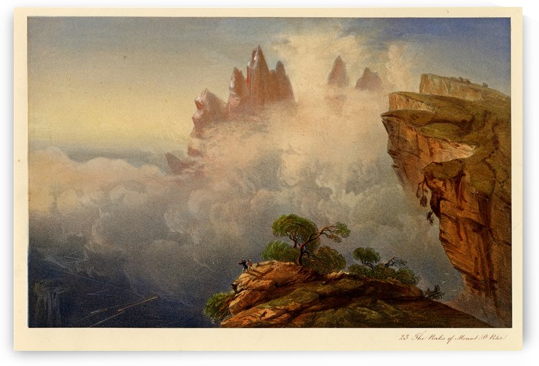 The peaks of Mount Saint Peter by Carlo Bossoli