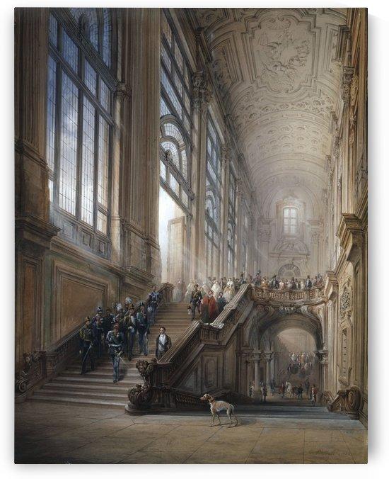The inauguration of the Fifth Legislature Subalpine, 1853 by Carlo Bossoli