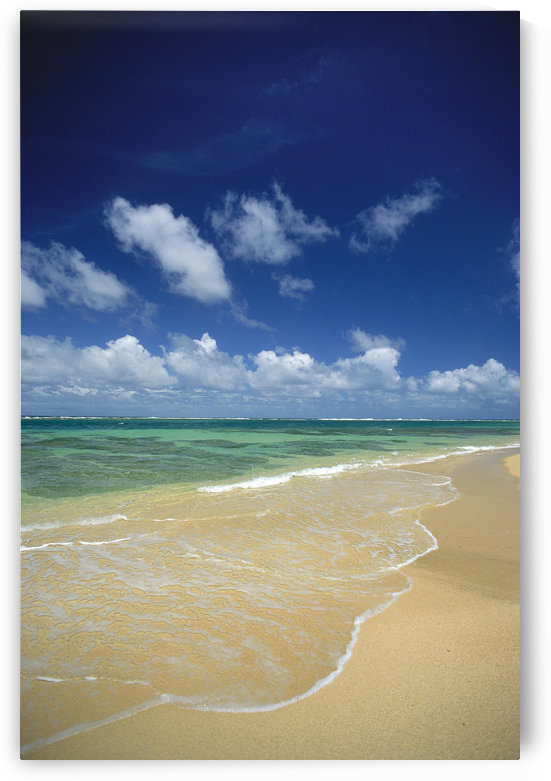 Hawaii, Kauai, North Shore, Clear Shoreline, Sand At Haena Beach A32A by PacificStock
