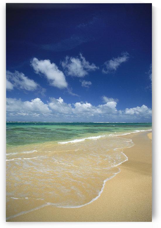 Hawaii, Kauai, North Shore, Clear Shoreline, Sand At Haena Beach A32A by PacificStock